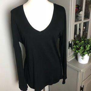 Banana Republic Black Long Sleeve T-Shirt Sz L